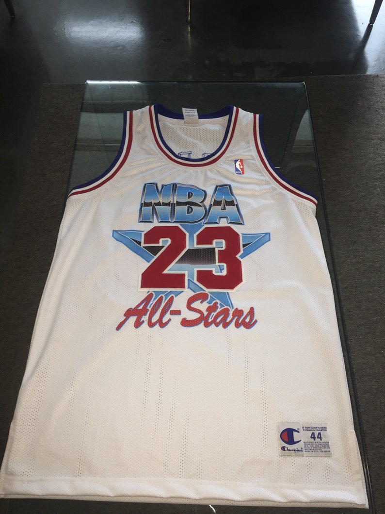 newest fd782 2a38d RARE Michael Jordan Champion Authentic Sewn All-Star Jersey 1990s Like New  Chicago Bulls Vintage