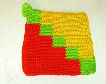 Pot holders classically crocheted pot holder pair cotton pot holders