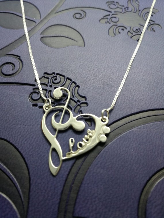 Bass Gold Tone Clef Custom Engraved You are more Loved Heart Locket Necklace