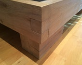 Oak bed solid with slit a...