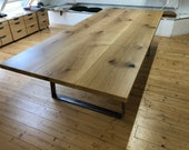 Conference table dining table Diningtable in oak and steel quality from the Lower Rhine