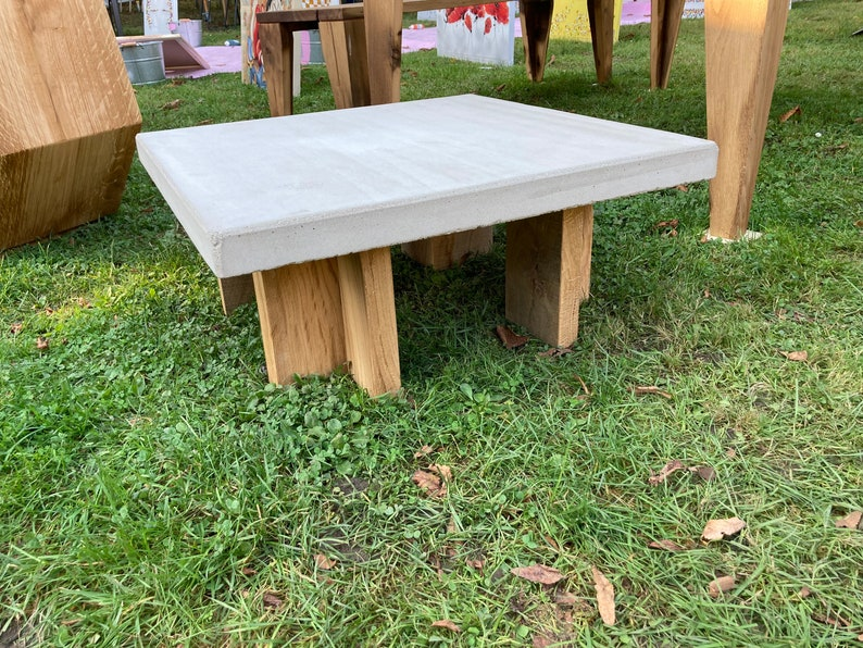 Concrete coffee table and solid egg edifies image 1