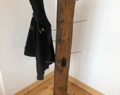 Wardrobe made of an old oak Dachtsuhl with metal base