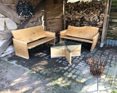 Bank Lounge for the garden of oak quality from the Lower Rhine
