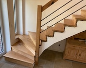Stairs made of oak more precisely from a plank