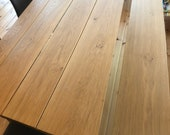 Dining table Diningtable in oak with slanted edges and steel quality from the Lower Rhine