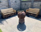 Bench Lounge for the garden made of oak quality from the Lower Rhine