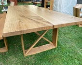 Dining table dining table made of oak quality from the Lower Rhine