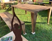 Dining table dining table made of old oak quality from the Lower Rhine