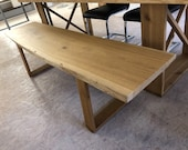 Bench bench made of oak solid wood can also be producible in different lengths