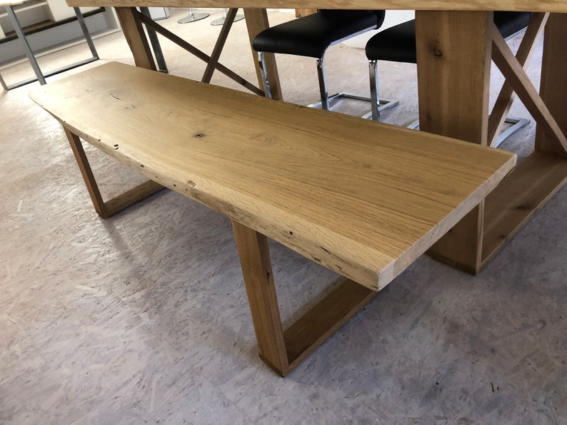 Bench bench made of oak solid wood can also be producible in image 0