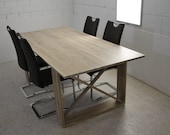 Dining table made of solid wood solid wood white oiled in almost all sizes available
