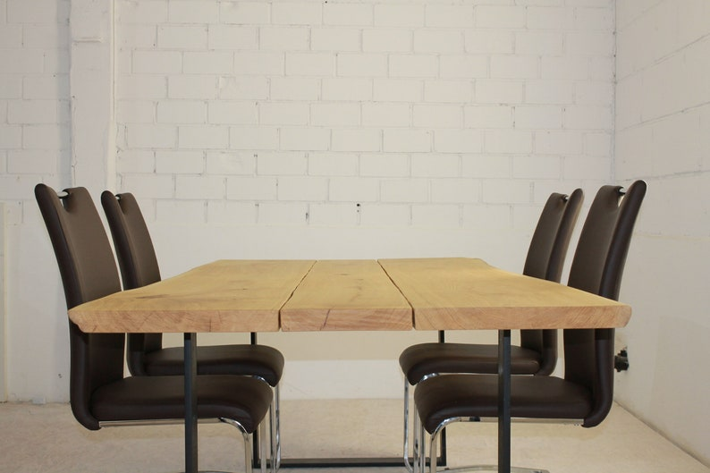 Dining table in oak and steel quality from the Lower Rhine image 0