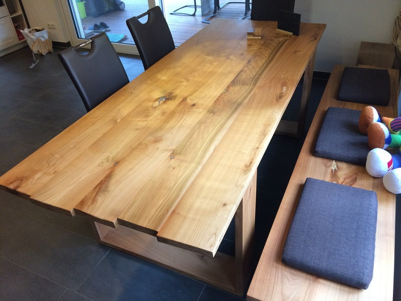 Table dining table made of cherry wood solid image 0