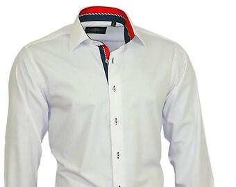 Shirt BINDER de LUXE men's shirt men dress shirt long sleeve white #82701