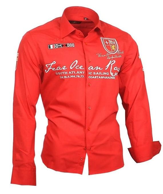super cute 80223 1f96b Herrenhemd Herren Hemd rot bestickt langarm men dress shirt Binder de Luxe  #80507