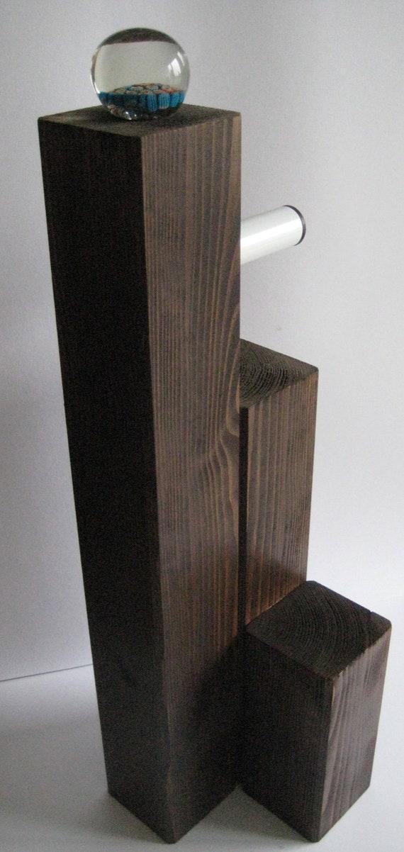 Toilettenpapierhalter Massiv Holz Farbe Palisander