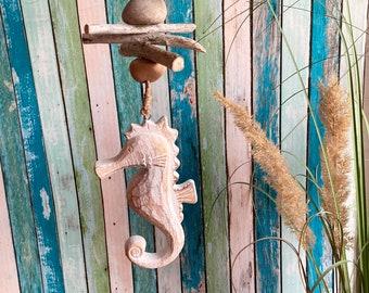 Garland driftwood seahorses, garden decoration, wind chiming, autumn decoration