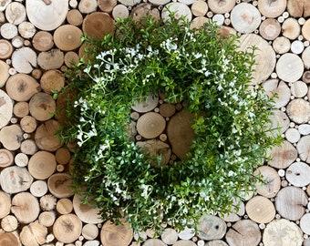 Door wreath with veil herb, autumn decoration