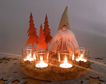 Elves, autumn decoration, Advent wreath, winter decoration