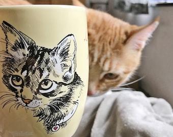 GentleCat© Animal Protection Mugs · Cat light yellow