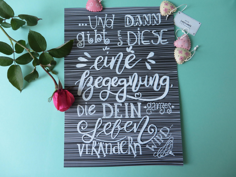 Bild Handlettering Kalligraphie mit Spruch Liebe | Etsy