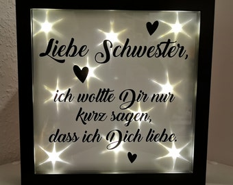 Dear Sister Dear Brother, I just wanted to tell you that I love you. Light frame picture frame gift individual *karocreative*