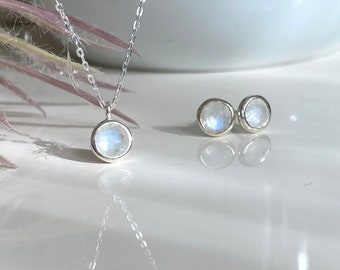 Moonstone Jewelry Set 925 Sterling Silver