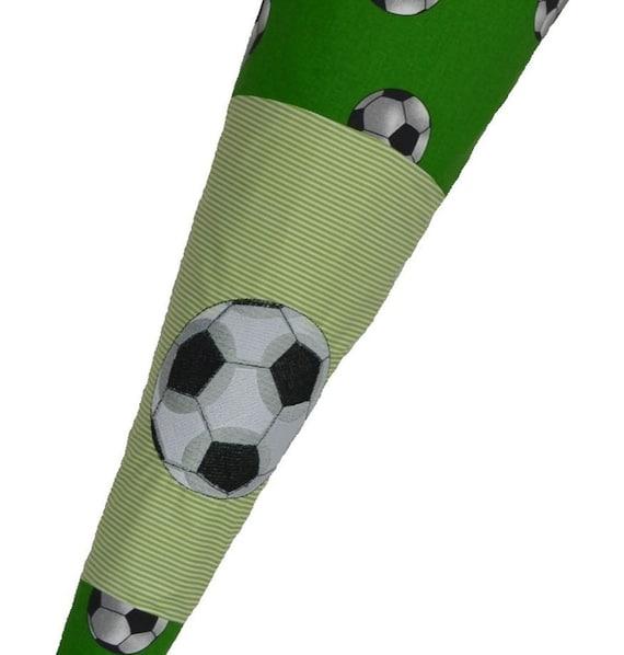 Schultüte «Football» avec votre nom de 70 cm, carton incl. vierge