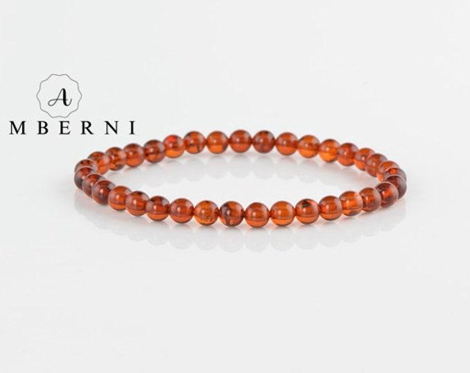5,5 mm Baltic Amber Bracelet