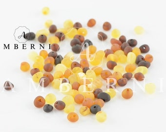 Baroque Baltic Amber Beads, Raw Amber, 4-6 mm, 80-90 pieces
