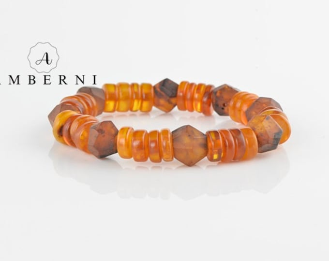 Natural Polished Raw Amber Bracelet