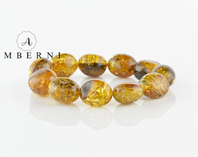 Baltic Amber Bracelet Green Color