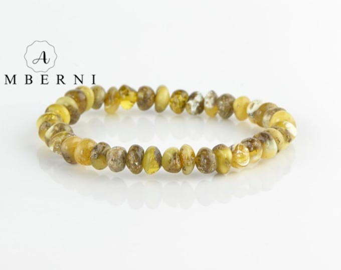 Baltic Amber Bracelet with Oval Beads
