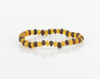 Raw amber bracelet, Natural amber, Baltic amber bracelet, 6219