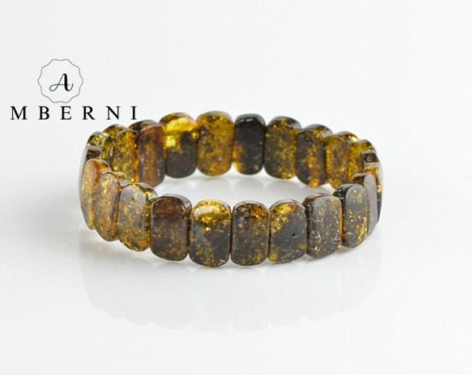 Baltic Amber Bracelet Green Color