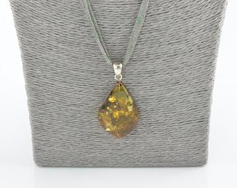 Baltic amber pendant, Handmade pendant, Jewelry for women, Gift idea, 7807