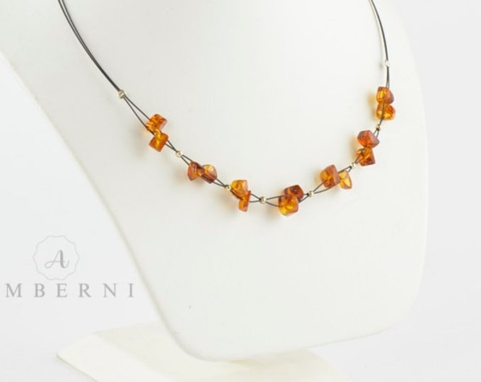 Polished Baltic Amber Necklace