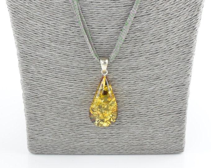 Baltic amber pendant, Amber pendant, Natural amber, Amber piece, 7810