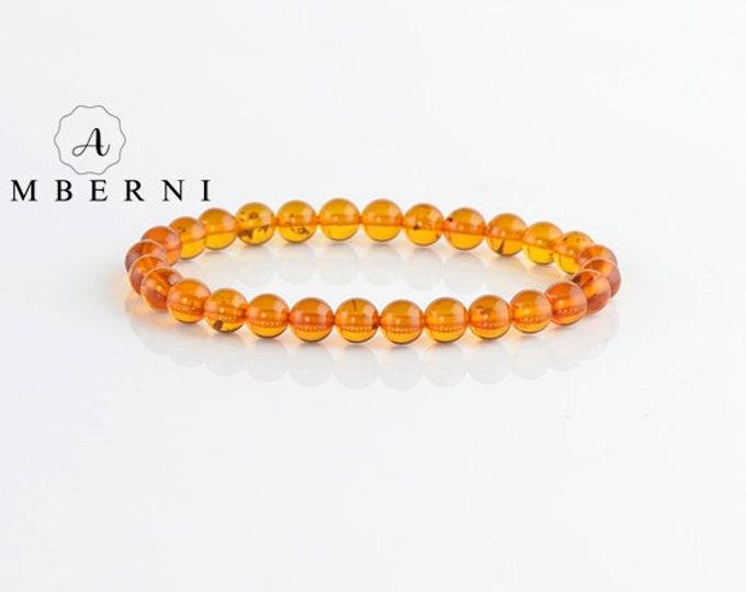 Baltic Amber Bracelet 6,5 mm