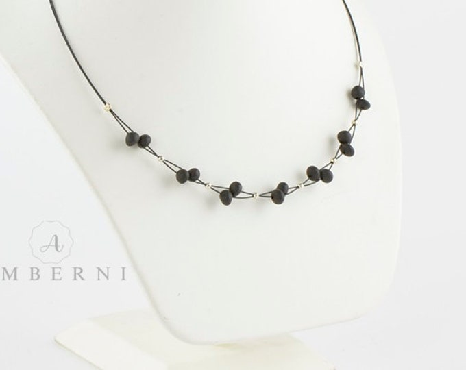 Black Baltic Amber Necklace