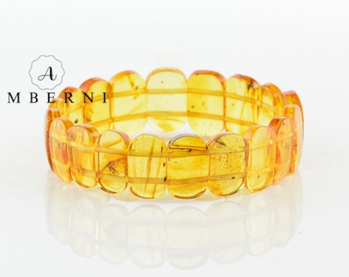 Baltic Amber Bracelet Yellow Color