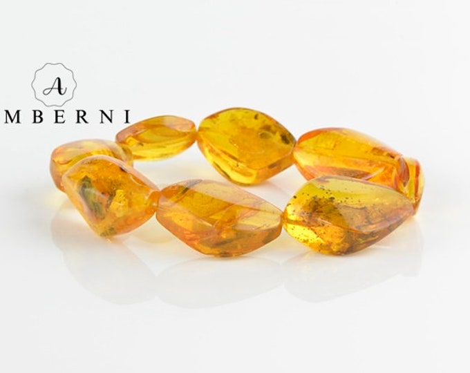 Baltic Amber Bracelet with Insect