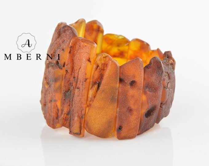 Brown Raw Baltic Amber Bracelet