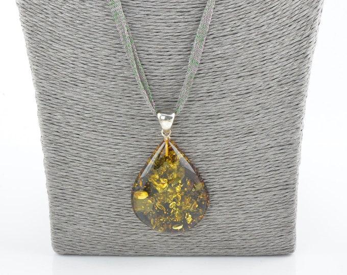 Amber pendant, Baltic amber pendant, Amber stone, Women's pendant, 1369