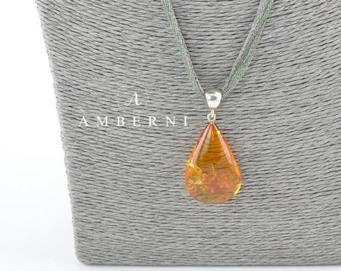 Baltic Amber Pendant, Natural Amber