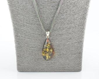 Amber pendant, Handmade jewelry, Baltic amber, Jewelry for her, 7794