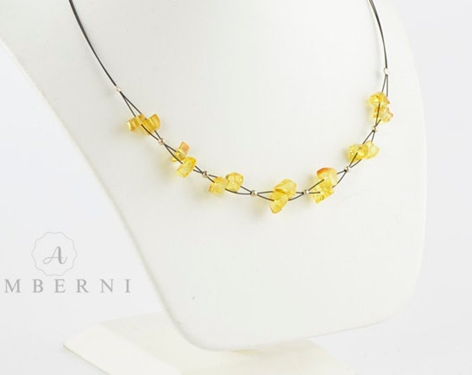 Yellow Baltic Amber Necklace