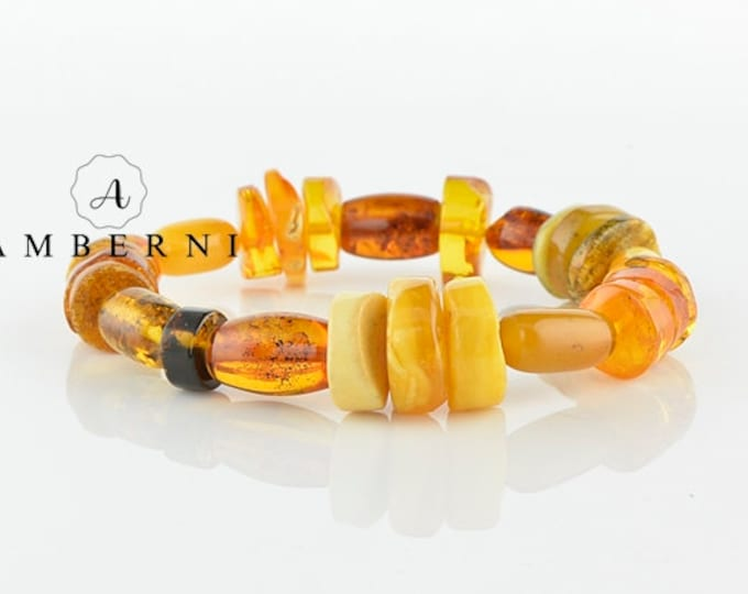High Quality Multi-color Baltic Amber Bracelet
