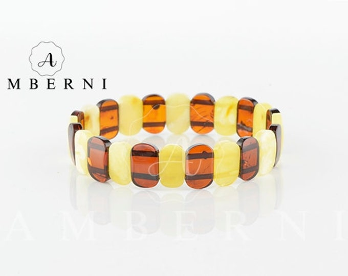 Amber Bracelet with Matt Cherry Color